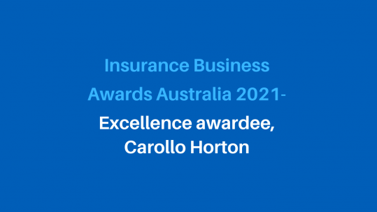 Excellence awardee in the Insurance Business Awards 2021