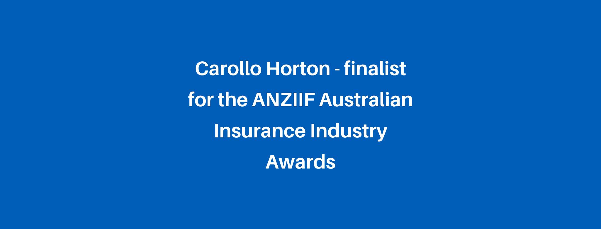 Finalist for the ANZIIF Australian Insurance Industry Awards